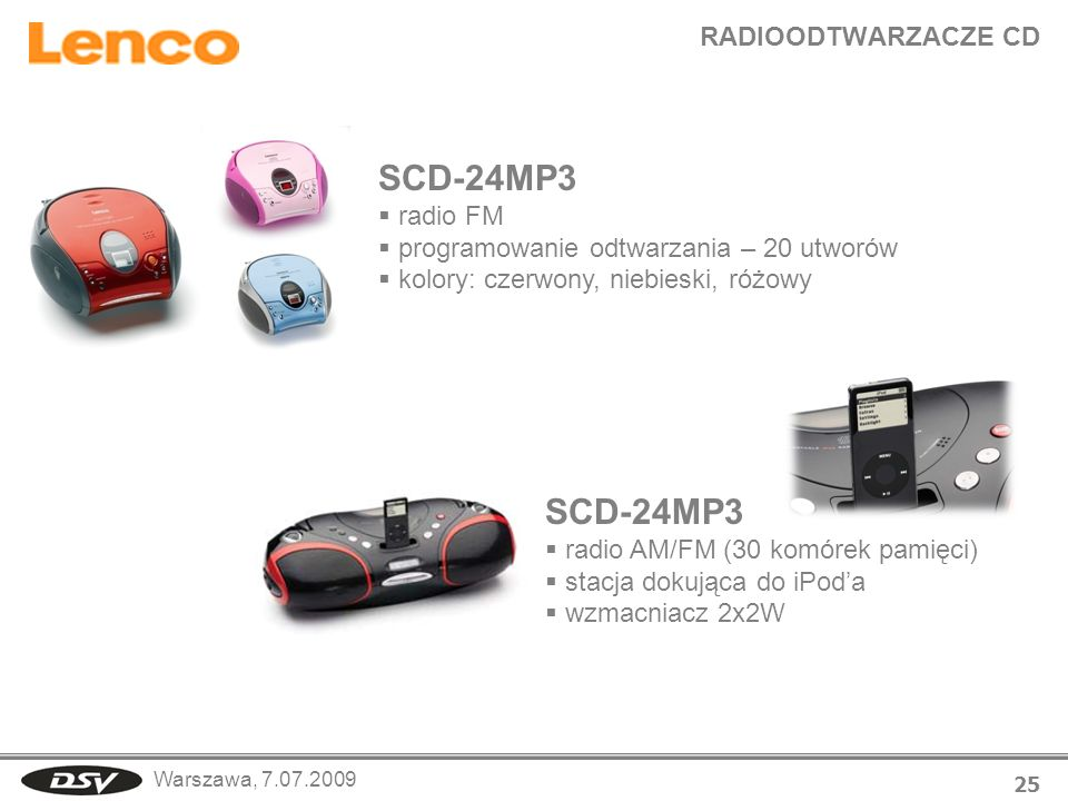 SCD-24MP3 SCD-24MP3 RADIOODTWARZACZE CD radio FM