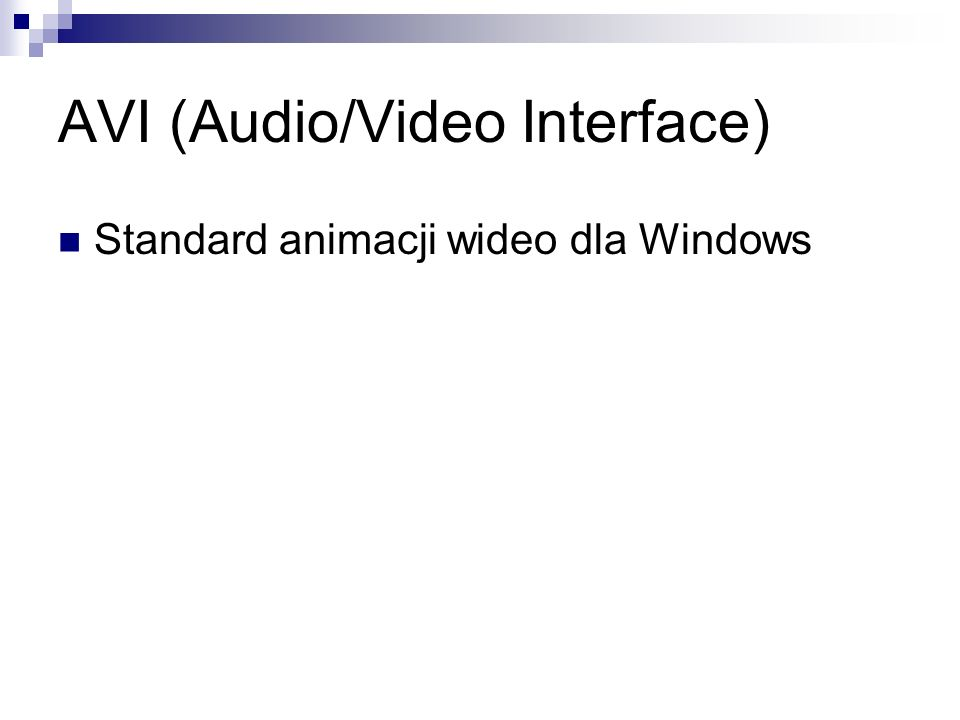 AVI (Audio/Video Interface)