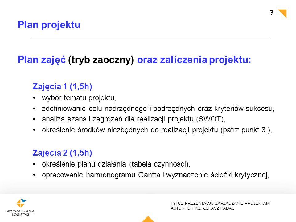 Zarzdzanie projektami i procesami zajcia wiczeniowe projekt 3 plan ccuart Choice Image