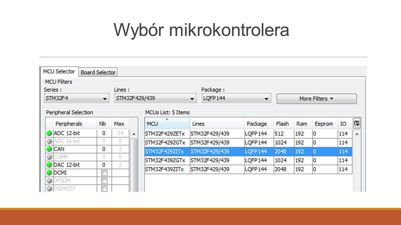 Stworzenie projektu w cubemx i kontunuacja w sw4stm32 - ppt pobierz