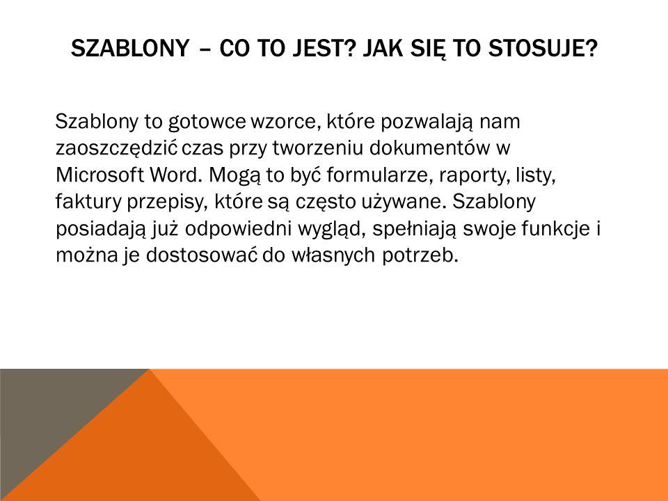 Szablony W Programie Microsoft Word Ppt Pobierz